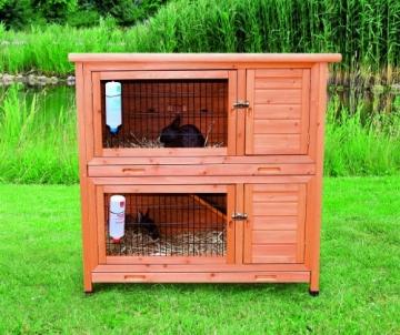 Trixie Kaninchenstall Natura – Hasenstall mit 2 Etagen Kleintierhaus